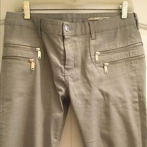 Zara grey wax coated jeans